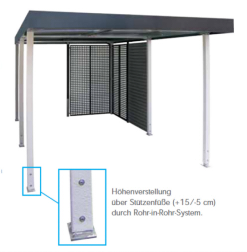 carport aus metall h he 251 cm breite 258 x tiefe 524 cm ebay. Black Bedroom Furniture Sets. Home Design Ideas