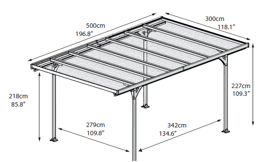 Carport verona 5000 for Tepro carport